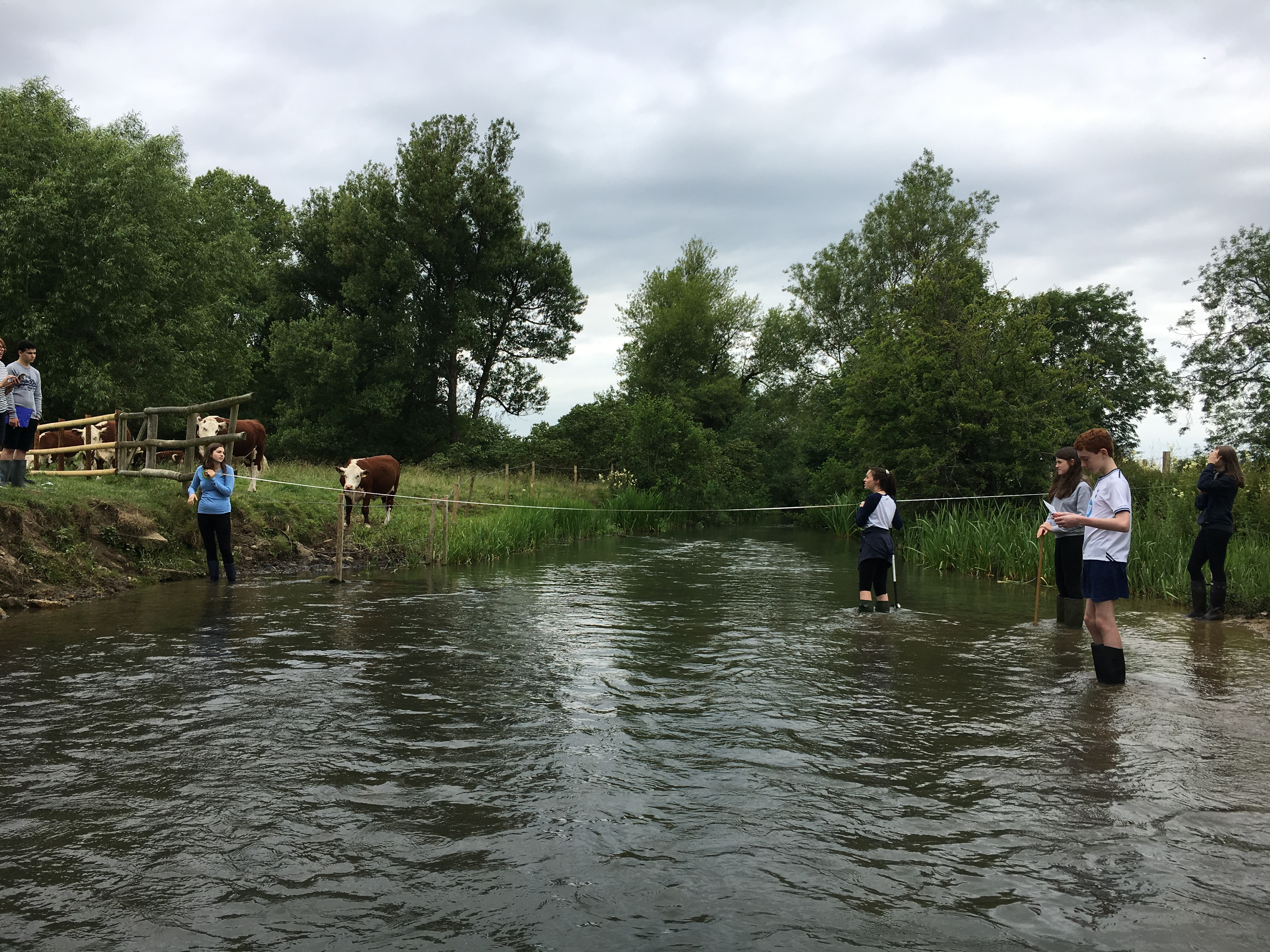 year 10 geography field trip along the river windrush