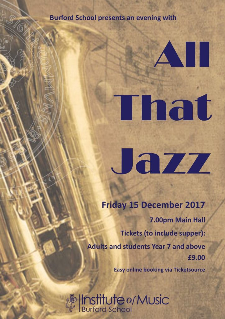 Join us for an evening with 'All That Jazz'