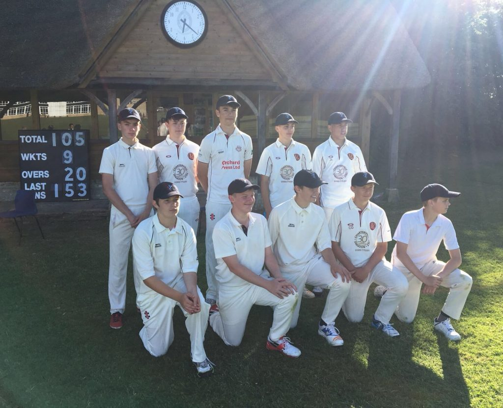 Cricket Win for Under 15's