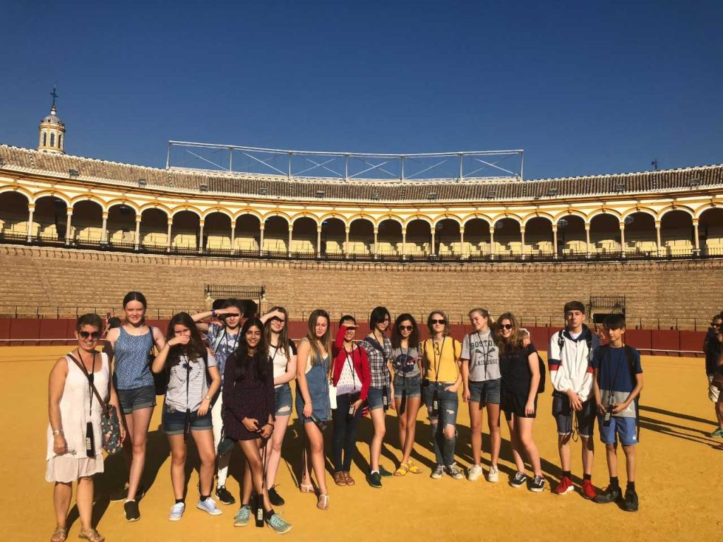 Fun in the sun – students visit Seville