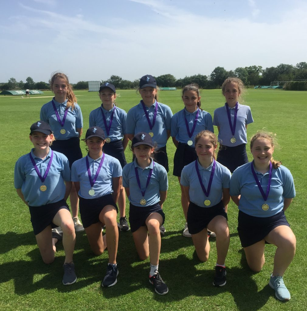 Girls Shine at Cricket Competition